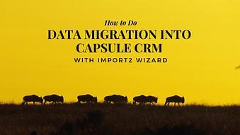 How to Do Data Migration into Capsule CRM with Import2 Wizard