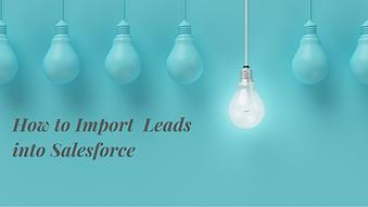 How Import Leads into Salesforce