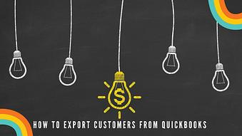 How to Export Customers from Quickbooks with Import2 WIzard