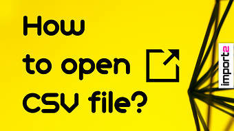 How to Open CSV file (in Excel and Google Sheets)