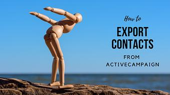 How to Export Contacts from ActiveCampaign