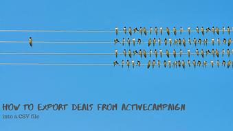 How to Export Deals from ActiveCampaign